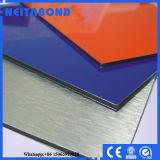 La pared exterior utilizó el panel de pared de aluminio de 3m m 4m m PVDF con Ce