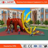 Série animal do equipamento engraçado do divertimento do campo de jogos da corrediça das crianças (HD-MZ005)
