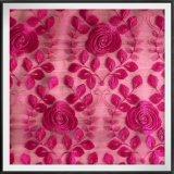 ナイロン網の刺繍のレースのテュルの刺繍のレースの花の刺繍のレース