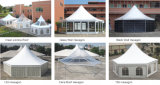 党直径8mのための普及した透過六角形のテント30人のSeaterのゲスト