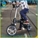 Bicicleta eléctrica plegable modificada para requisitos particulares del motor de la pulgada 250W del Portable 12