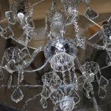 De Europese Zuilvormige LEIDENE van het Chroom van het Restaurant Decoratieve Lamp van de Tegenhanger met de Daling van het Kristal