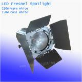 Ручное увеличение 150W теплый белый / Холодный белый светодиод Studio линза Френеля фонаря направленного света
