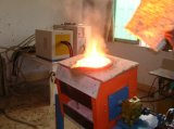 35kw Chauffage de haute qualité de l'induction four de fusion de fer avec la vidéo