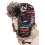 人が付いている熱い販売の冬の帽子は作った毛皮(VT034)を
