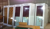 Portes en verre de glissement en aluminium de bâti de couleur de Champagne (SC-AAD004)