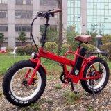 Vélo électrique pliable de gros pneu de 20 pouces avec le pouvoir 500W