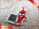 Sapatos Rubber Silicone Label Soft 3D Sewing PVC Patch