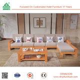 Sofá de madeira da madeira de pinho da mobília do sofá dos retratos ajustados do sofá