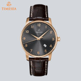 Mann-Stahlbildschirmanzeige-analoges Quarz-Uhr-Armbanduhr-Geschenk 72369