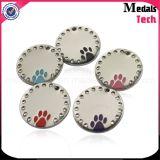 Aleación de zinc fundido a troquel Etiquetas de perros personalizadas de plata antigua