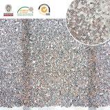 Poliester caliente Fabric136 de la venta de la nueva manera del bordado de la tela del cequi