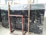 Silver Dragon/blanco y negro/pulido de mármol pulido la losa de la Vanidad la parte superior/pared/escalera/Piso/Mosaico/Baluster/Escultura