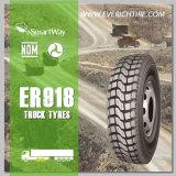 pneumáticos nacionais dos pneus do caminhão do pneu do orçamento 11.00r20 com termo de garantia