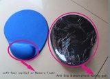 Marchio su ordinazione Mousepad con il supporto molle di resto di manopola del gel una superficie elastica del tessuto