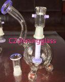 Tubulação de água de vidro da flor delicada da torção para o fumo de tabaco