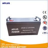 Pas d'entretien Système d'alimentation acide au plomb Batteries 12V 100ah