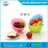 高品質の野菜のためのプラスチック果物かごか台所記憶のバスケット