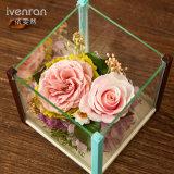 De Gift van de Bloem van Preservrd voor de Verjaardag van de Valentijnskaart