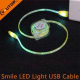 Кабель данным по USB усмешки света СИД поручая для мобильного телефона Andriod