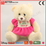 Teddybeer van het Stuk speelgoed van de pluche de Super Zachte Gevulde Dierlijke in Kleding voor het Meisje van de Baby