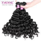 Cabelo humano de Remy do Virgin peruano Curly italiano superior da classe