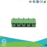 Hauteur de 7,5 mm 1000V Pole laiton électrique sur le fil de protéger l'Euro Bloc de jonction Connecteur PCB