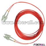 Многомодовый оптоволоконный кабель питания исправлений Sc для Sc красного цвета