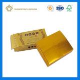 Rectángulo de empaquetado de papel modificado para requisitos particulares de la medicina del diseño (tarjeta del oro con la impresión ULTRAVIOLETA)