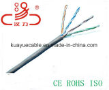 Establecimiento de una red de Lancable de Ethernet de Cat5e/cable del ordenador del cable del cable UTP de la comunicación de la red de cable