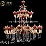 Golden Luz lustre de cristal de liga de zinco