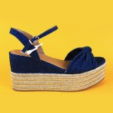 قوّة بحريّة اللون الأزرق [إسبدريلّ] عال إسفين أحذية من [فلتفورم] [إسبدريلّ] أسافين