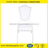 Luxuriöser weißer Hochzeits-Stuhl-Ereignis-Stuhl-Bankett-Stuhl mit PU-Deckel