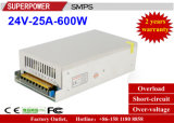24V 25A 600W Schaltungs-Stromversorgung für LED-Beleuchtung