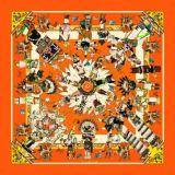 カスタム高品質の印刷の方法絹のスカーフ(F13-0045)