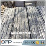 Tuile grise foncée fendue et Polished de mur de granit de panneau de mur pour le revêtement de mur de jardin d'horizontal