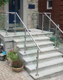 층계와 테라스를 위한 고품질 스테인리스 유리제 방책