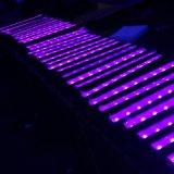 luz UV da barra da arruela da parede do diodo emissor de luz de 9X3w RGBW para o estágio