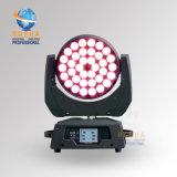 Rashaの段階教会ライト90-240Vのための5pins DMX Port&Powerconの高い明るさ36*18W 6in1 Rgbawの紫外線ズームレンズLEDの移動ヘッド洗浄ライト