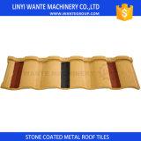 Facile installato in mattonelle di tetto d'acciaio rivestite della pietra di tempo di corto periodo dai fornitori delle mattonelle di tetto della Cina