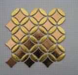 金のステンレス鋼のメタル・セラミックモザイク・ガラスのモザイク壁のタイル