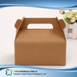 Cadre de empaquetage pliable environnemental de papier d'emballage pour le gâteau de nourriture (xc-fbk-044b)