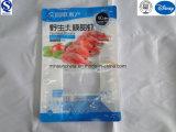 Do lado de nylon para alimentar 8 encapsulado em sacos de plástico refrigerados de camarão