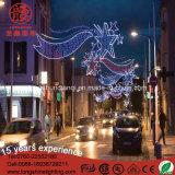 通りのモチーフのクリスマスの照明を渡るLED 6mの鉄Frame Luces De Navidad Antique第2