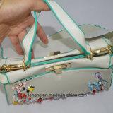De populaire Handtas van de Totalisator Pu met borduurwerkKunstwerk
