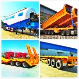 Tri-Eixos 40FT veículos longos, reboque de plataforma, reboque de contentores, semi-reboque