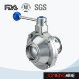Тип санитарный сваренный шариковый клапан бабочки нержавеющей стали (JN-BLV1004)