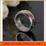 Boucle de vente chaude en gros de bijou d'acier inoxydable de la boucle de diamant 316L (CZR2568)