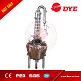 産業赤い銅のガラスアルコールフルートの蒸留塔