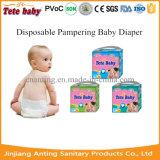 Fabricante Pampering descartável do tecido do bebê do Sell quente em China